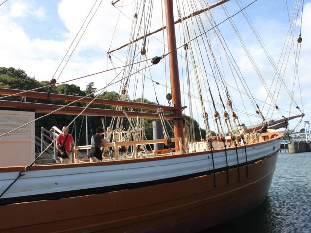 Intérieur du Port-musée - Douarnenez - bateau à flot