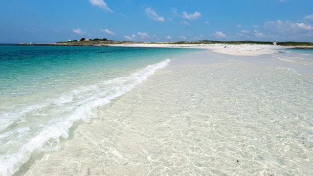L'archipel des Glénan, plage de l'Ile Saint-Nicolas