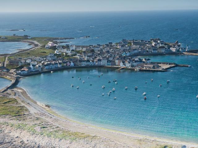 Vue aérienne de l'île de Sein