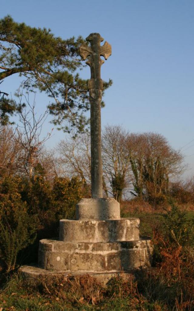 La croix de Lanriec à Pouldergat