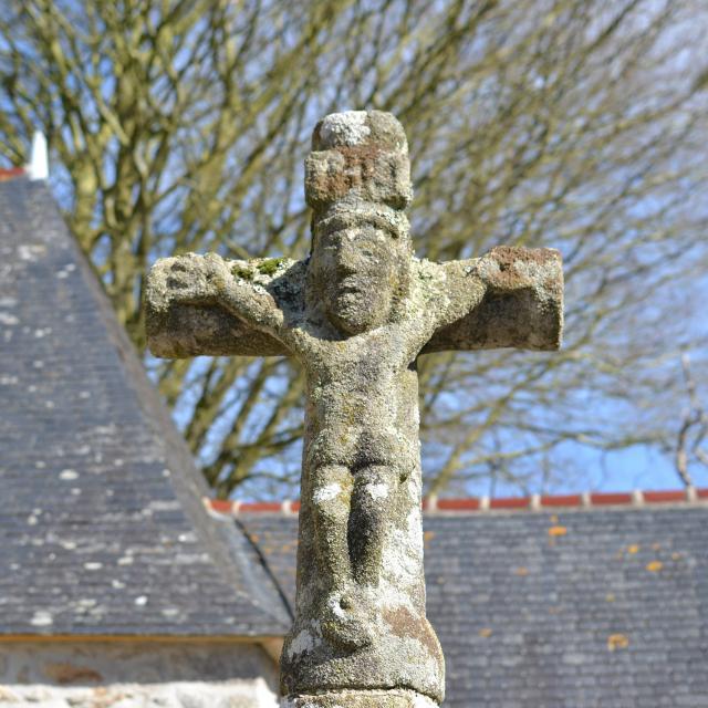 Détail du calvaire de la chapelle Saint They