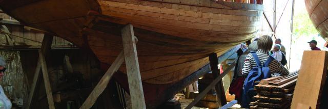 Visite du Port Rhu, Chantier Naval Pleine Mer