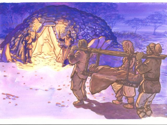 Etape 1 : Inhumation, allée couverte de Lesconil