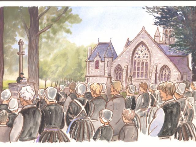 Étape 2 : Prêche extérieure, Notre-Dame de Kérinec