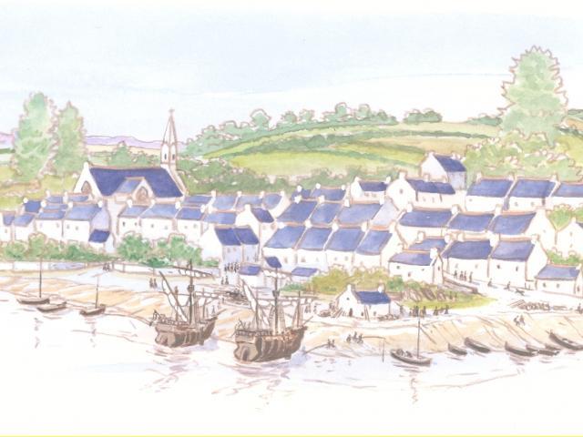 Étape 8 : vue du port de Pouldavid
