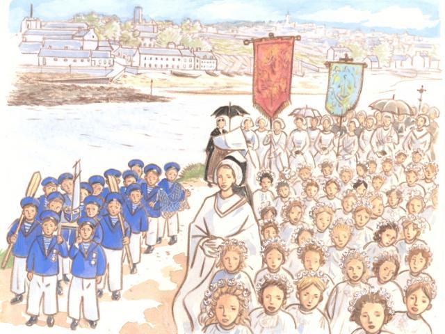 Étape 9 : bénédiction de la mer, chapelle Saint-Jean, Tréboul