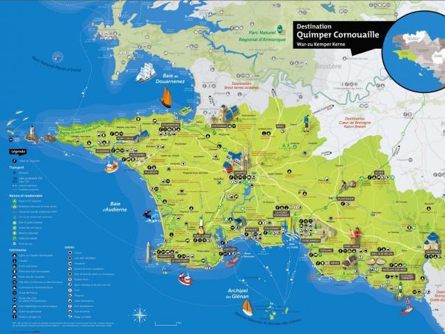 Carte Destination Quimper Cornouaille