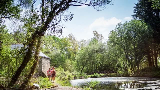 Le moulin de Tréouzien à Plouhinec