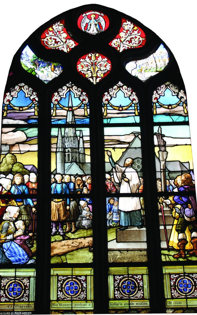 Vitrail dans l'Eglise Saint-Germain de Kerlaz