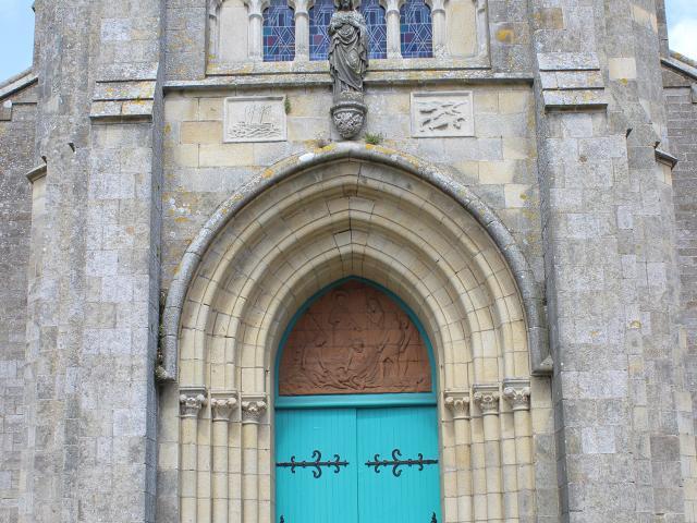 Porte d'entrée de l'Eglise du Sacré-Coeur
