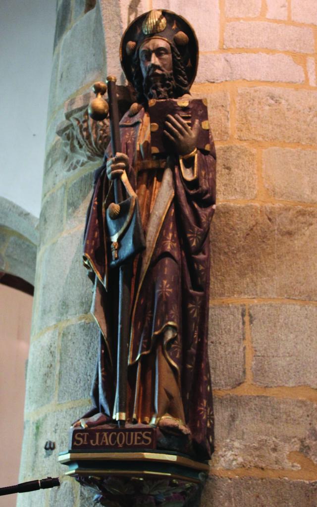 Statue Saint Jacques De Compostelle Pouldavid