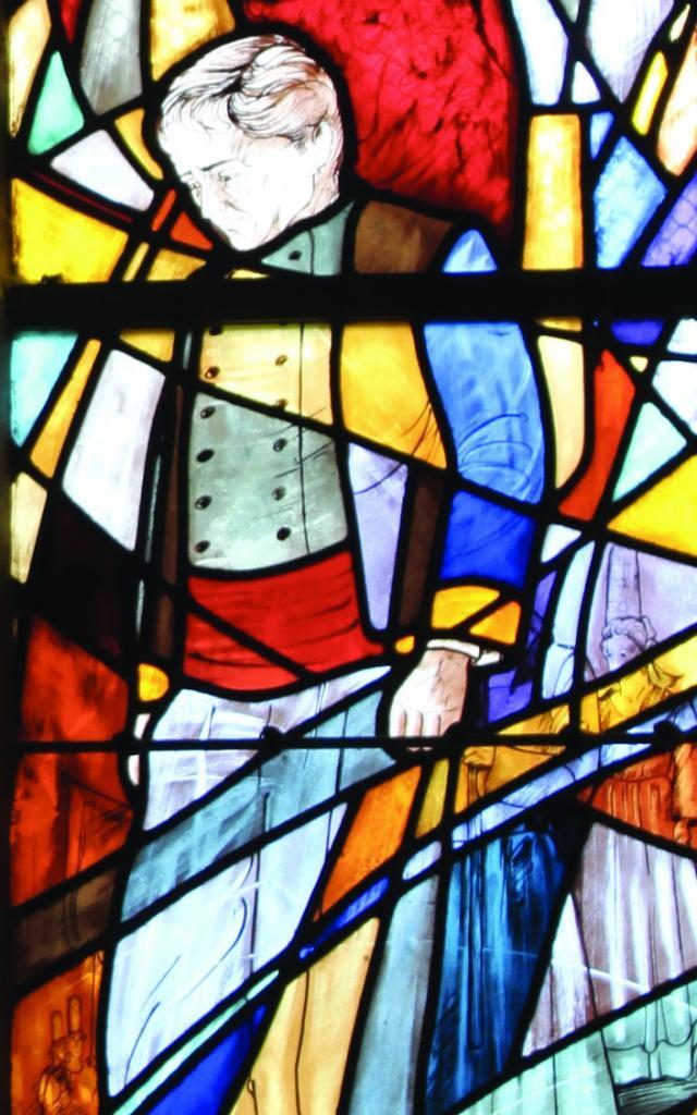 Vitrail, chapelle Saint-Vendal à Pouldavid