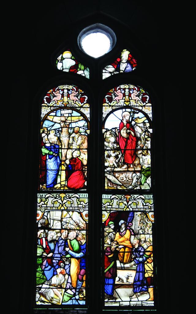 Vitraux de la Passion, chapelle Sainte-Hélène