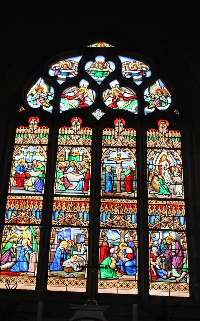 Vitraux La Passion Du Christ St Ergat