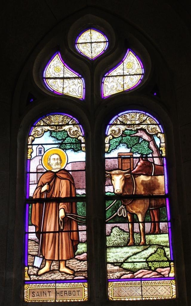 Vitraux Saint Herbot St Ergat
