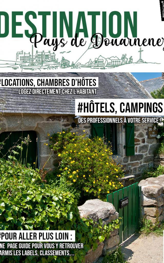 Guide Hébergements 2021 vacances en Bretagne Douarnenez - location hôtels camping, résidences